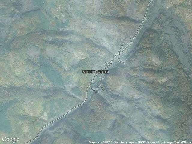 Сателитна карта на Милкьовци