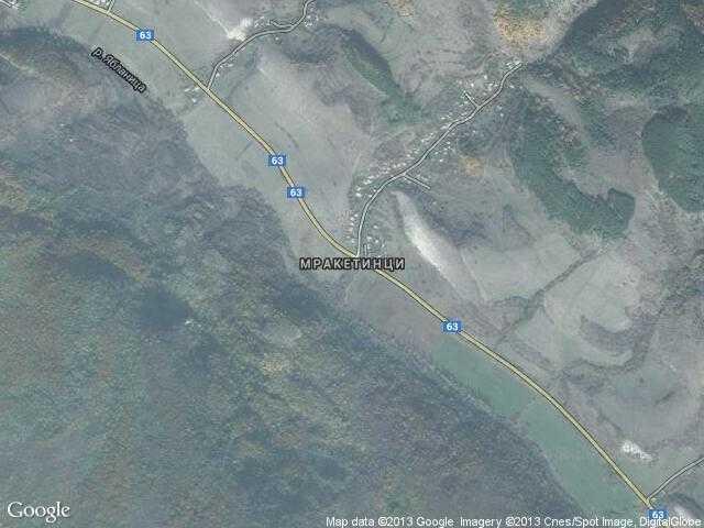 Сателитна карта на Мракетинци