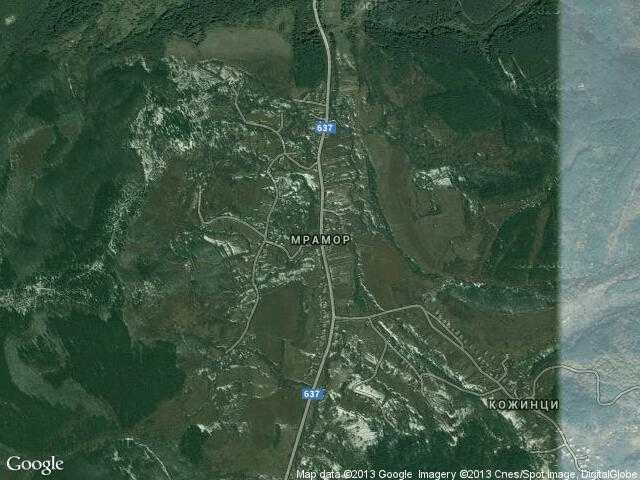 Сателитна карта на Мрамор