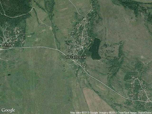 Сателитна карта на Насалевци