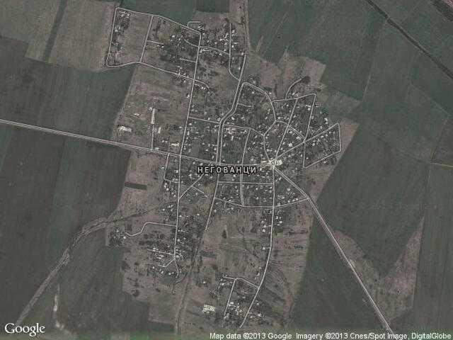 Сателитна карта на Негованци