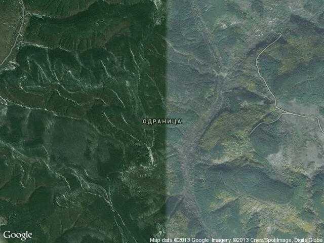 Сателитна карта на Одраница