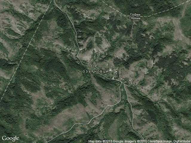Сателитна карта на Озърновци
