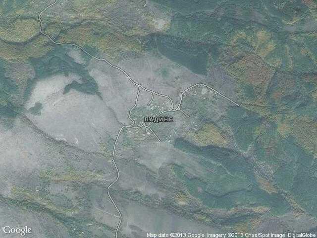 Сателитна карта на Падине