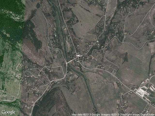 Сателитна карта на Прибой