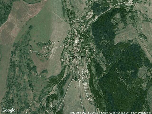 Сателитна карта на Радибош