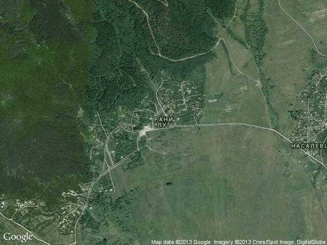 Сателитна карта на Рани луг