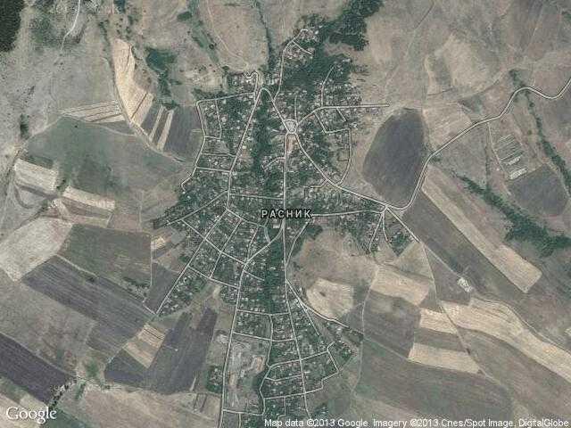 Сателитна карта на Расник