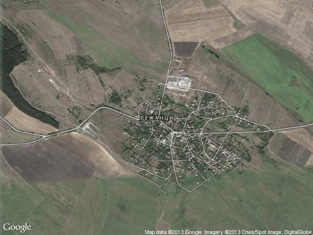 Сателитна карта на Режанци