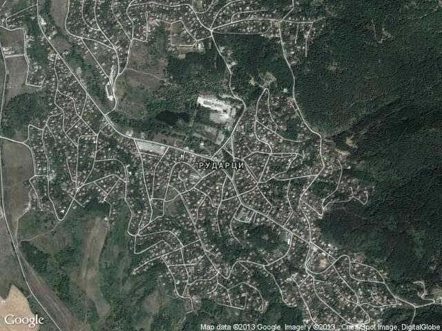 Сателитна карта на Рударци