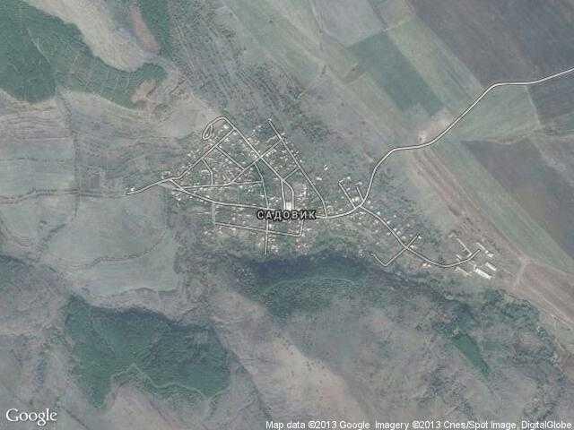Сателитна карта на Садовик