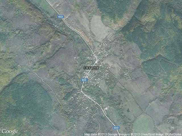 Сателитна карта на Светля