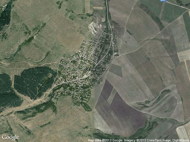 Сателитна карта на Селищен дол