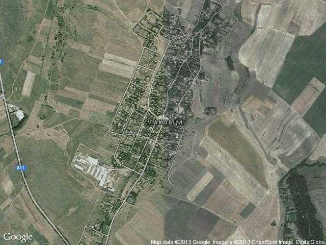 Сателитна карта на Слаковци