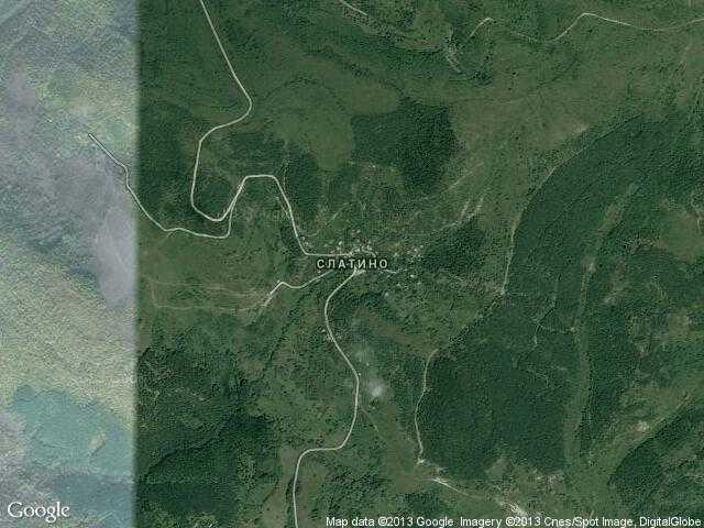 Сателитна карта на Слатино