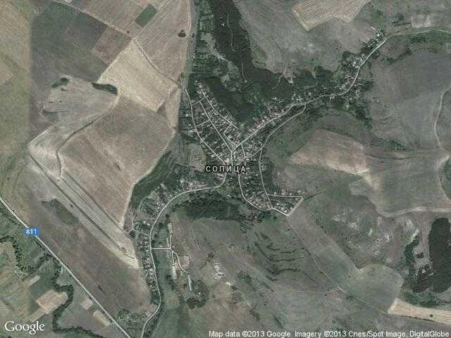 Сателитна карта на Сопица