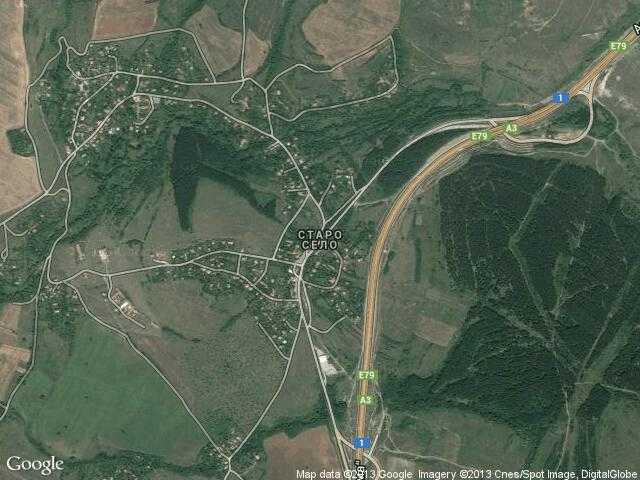 Сателитна карта на Старо село
