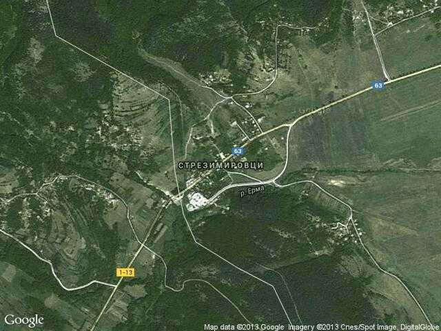 Сателитна карта на Стрезимировци