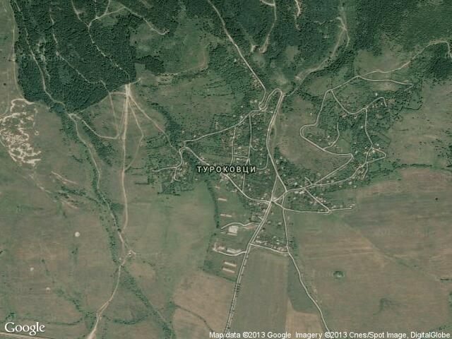 Сателитна карта на Туроковци