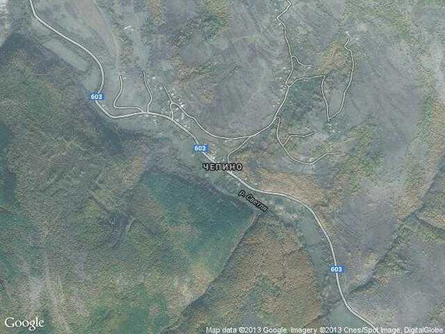 Сателитна карта на Чепино