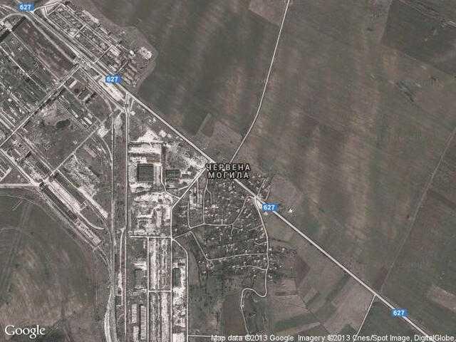Сателитна карта на Червена могила
