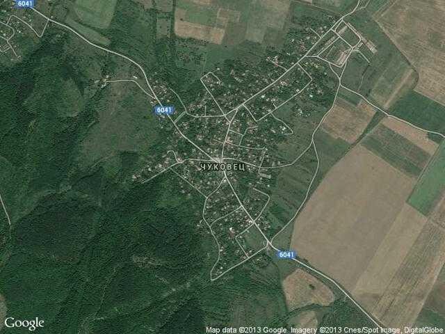 Сателитна карта на Чуковец