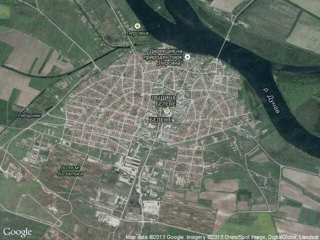 Сателитна карта на Белене