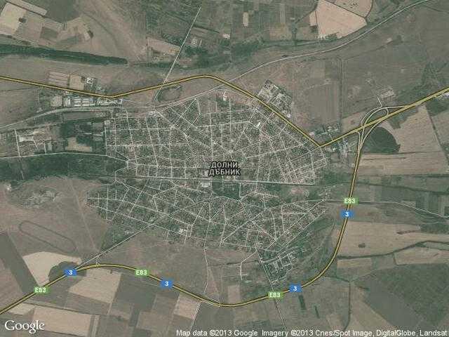 Сателитна карта на Долни Дъбник