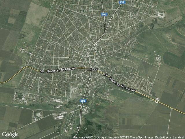 Сателитна карта на Кнежа