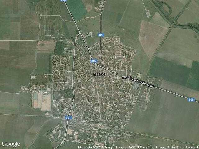Сателитна карта на Левски
