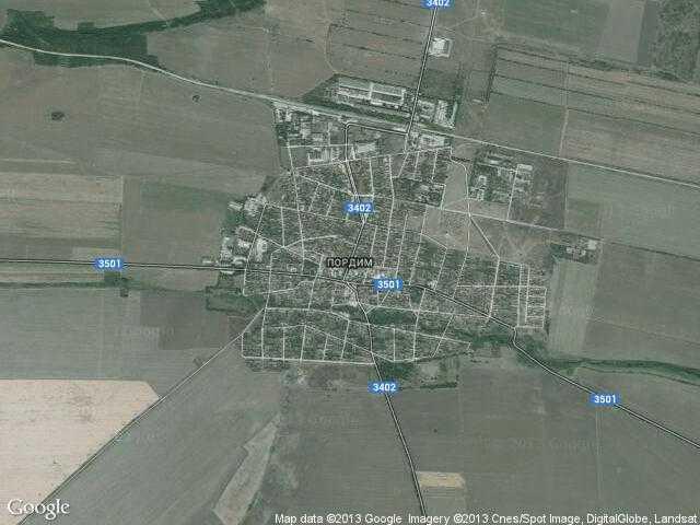 Сателитна карта на Пордим