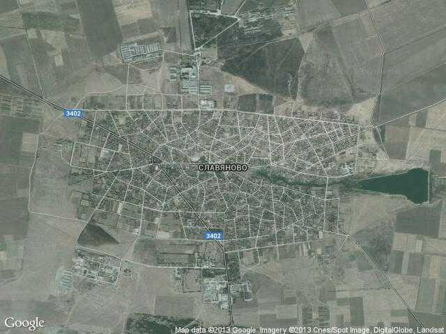 Сателитна карта на Славяново