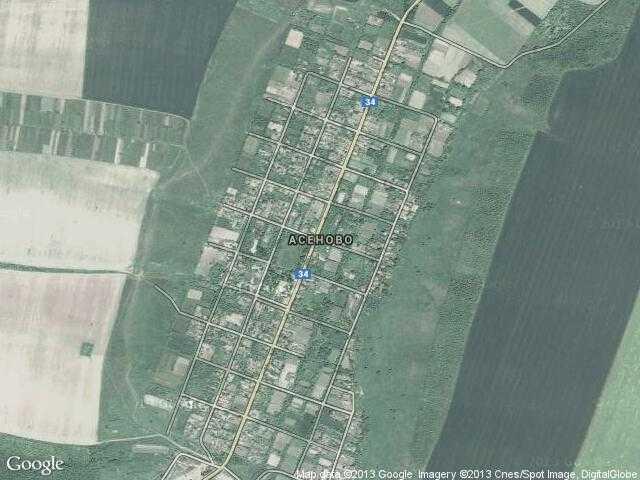 Сателитна карта на Асеново