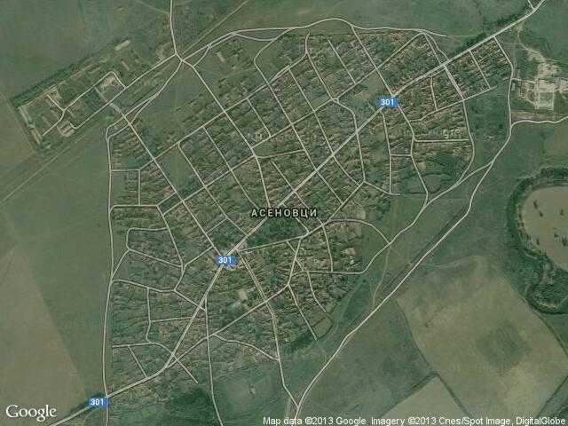 Сателитна карта на Асеновци