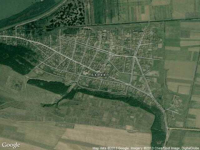 Сателитна карта на Байкал