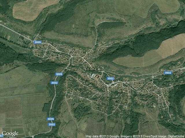 Сателитна карта на Беглеж