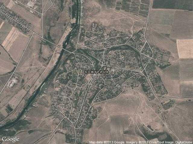 Сателитна карта на Божурица