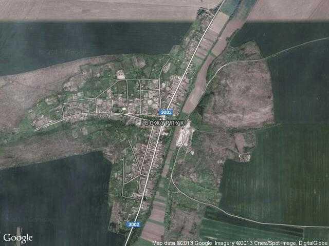 Сателитна карта на Божурлук
