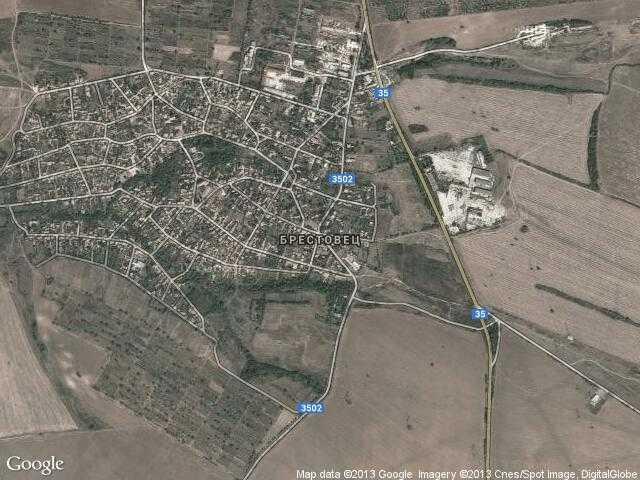 Сателитна карта на Брестовец