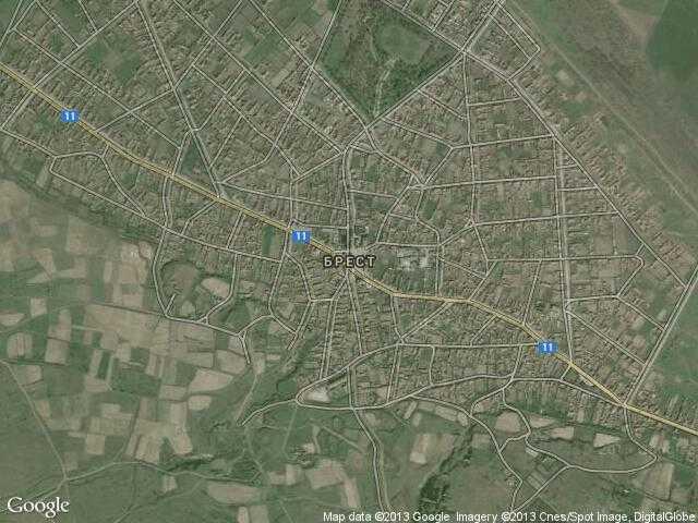Сателитна карта на Брест