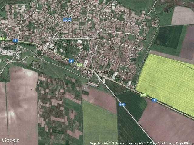 Сателитна карта на Българене