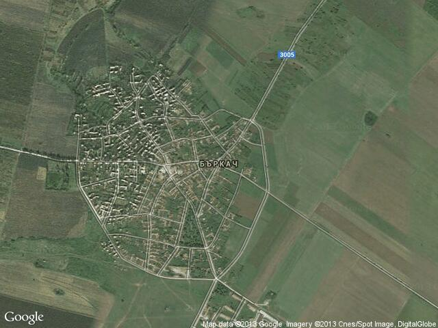Сателитна карта на Бъркач