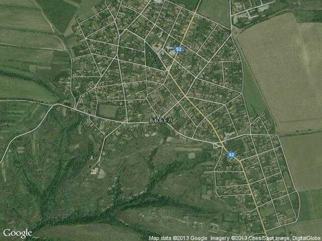 Сателитна карта на Въбел