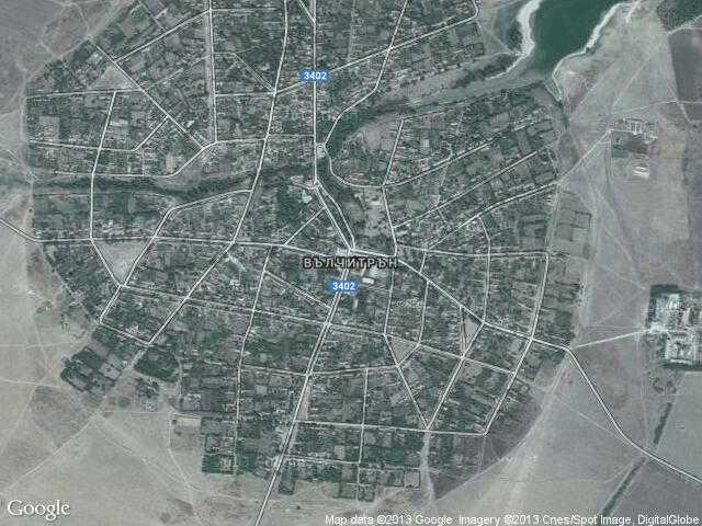 Сателитна карта на Вълчитрън