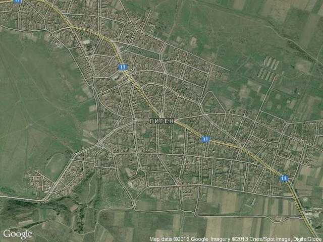 Сателитна карта на Гиген