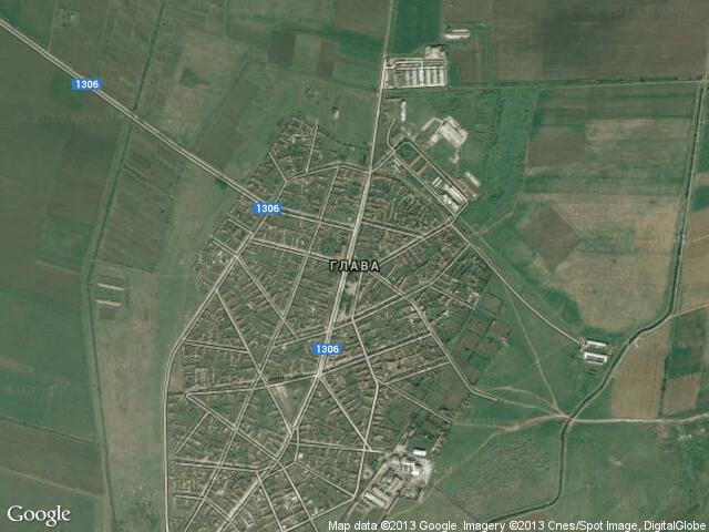 Сателитна карта на Глава