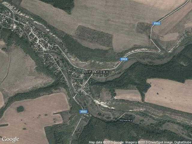 Сателитна карта на Горталово