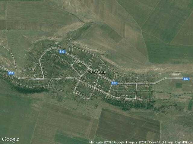 Сателитна карта на Гостиля