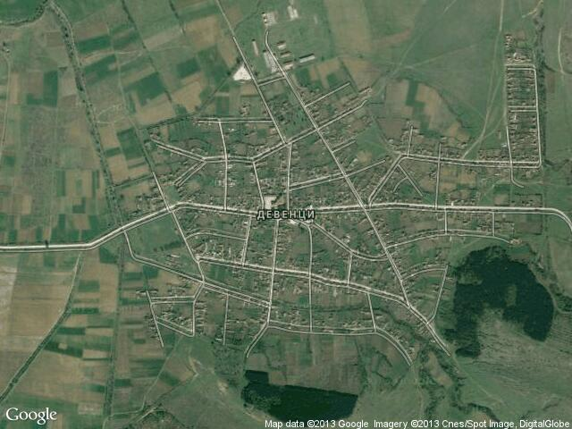 Сателитна карта на Девенци