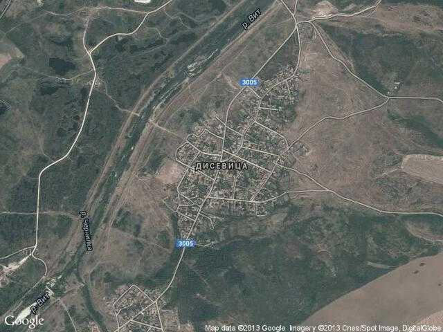 Сателитна карта на Дисевица